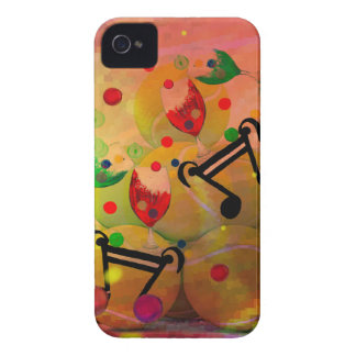 Tennis with music notes in Christmas iPhone 4 Case-Mate Case