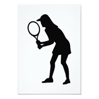 Tennis woman girl invite
