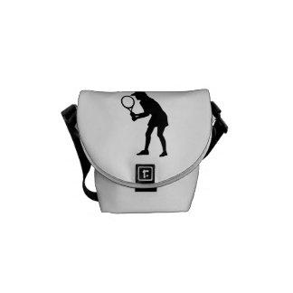 Tennis woman girl messenger bag