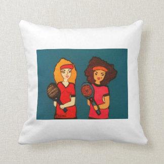 Tennis Women Pillow