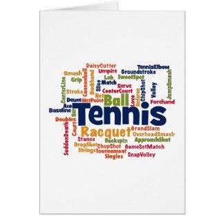 Tennis Word Cloud Card