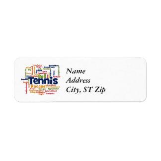 Tennis Word Cloud Label