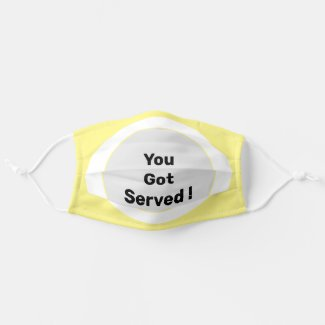 Tennis you got served on yellow background cloth face mask