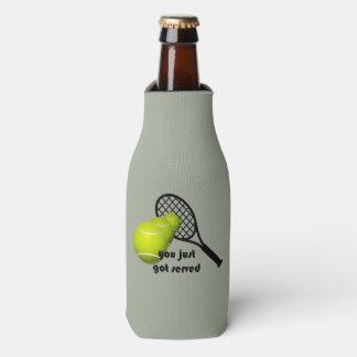 Tennis You Just Got Served Funny Bottle Cooler
