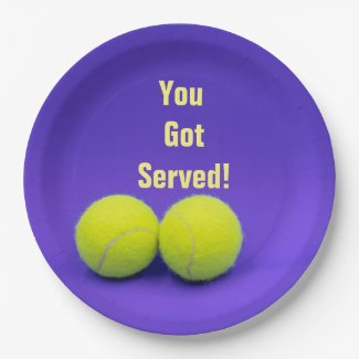 Tennis You've got served with tennis ball Paper Plate