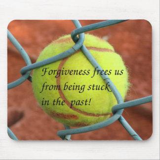 Tennisball pegado -- ¡Perdón! Tapete De Ratón