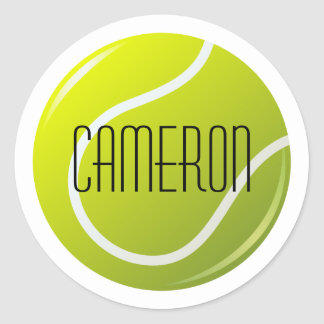 Tennisball personalizó nombre pegatina redonda