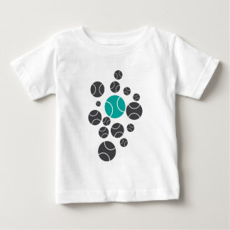 tennisballs-blue baby T-Shirt