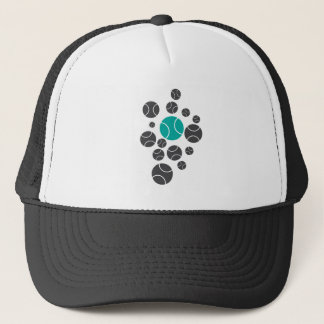 tennisballs-blue trucker hat