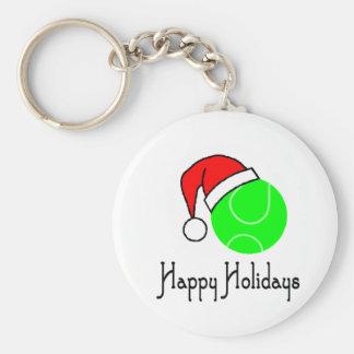 TennisChick Happy Holidays Keychain