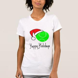 TennisChick Happy Holidays T Shirt