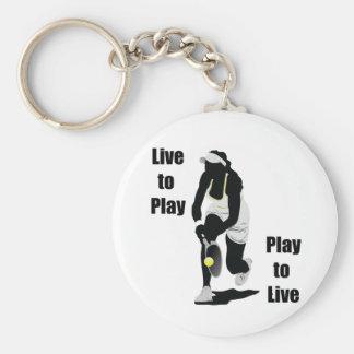 TennisChick Live to Play Keychain