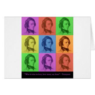 """Tennyson """"amor es"""" regalos y camisetas largos del  tarjeta"""