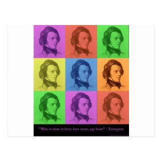"""Tennyson """"amor es"""" regalos y camisetas largos del  tarjetas postales"""