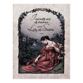 "Tennyson ""Lady of Shalott"" Victorian Postcard"