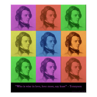 Tennyson Love Is Long Pop Art Canvas Print Posters
