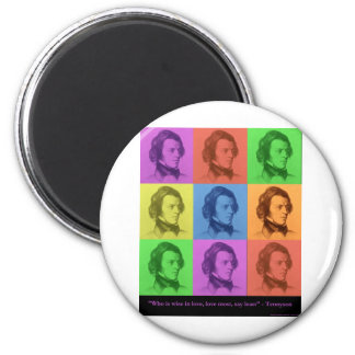 "Tennyson ""Love Is Long"" Pop Art Gifts & Tees Magnet"
