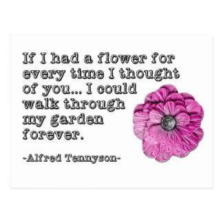 Tennyson love poem Postcard