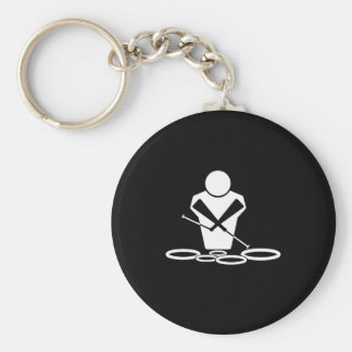 Tenor Drums Basic Round Button Keychain