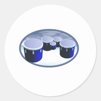 tenor drums classic round sticker