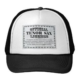 Tenor Sax License Trucker Hat