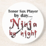 Tenor Sax Ninja Beverage Coasters