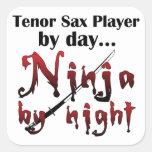 Tenor Sax Ninja Sticker