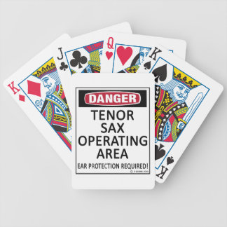 Tenor Sax Operating Area Bicycle Poker Deck