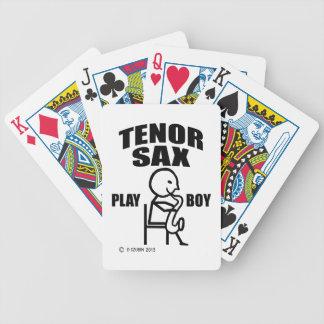 Tenor Sax Play Boy Bicycle Card Decks