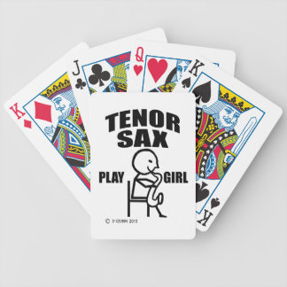 Tenor Sax Play Girl Bicycle Playing Cards