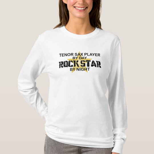 Tenor Sax Rock Star by Night T-Shirt