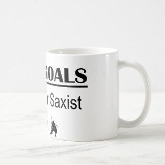 Tenor Saxist Ninja Life Goals Coffee Mug