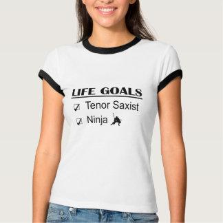 Tenor Saxist Ninja Life Goals T-Shirt