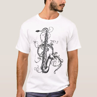 Tenor Saxophone Floral T-Shirt