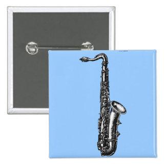 Tenor Saxophone Pinback Button