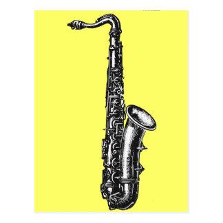 Tenor Saxophone Postcard
