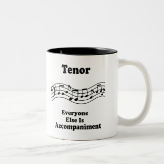 Tenor Singer Gift Two-Tone Coffee Mug