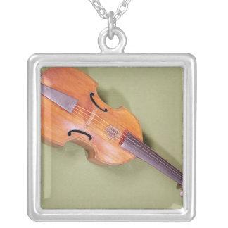 Tenor viol, 1667 square pendant necklace