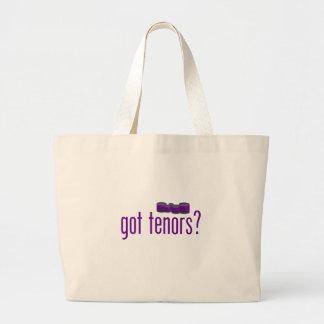 Tenores conseguidos (púrpuras) bolsa de tela grande