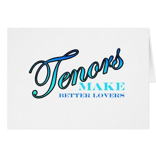 Tenors MAKE BETTER LOVERS Card