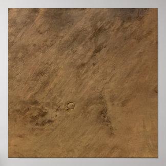 Tenoumer Crater in Mauritania Poster