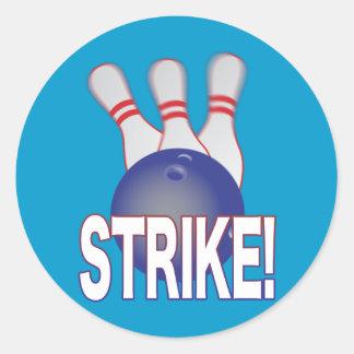 Tenpin Bowling Classic Round Sticker