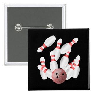 Tenpin bowling Strike Button