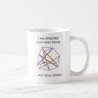 Tensegrity Mug - I am stressed and tense Taza De Café