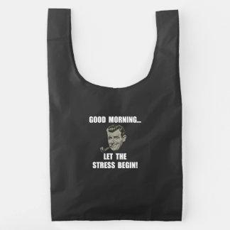 Tensión de la mañana bolsa reutilizable
