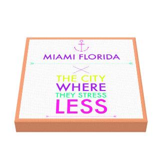 Tensión de Miami la Florida menos poster de la Impresión En Lona Estirada
