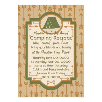 Tent and Arrows Camping Card