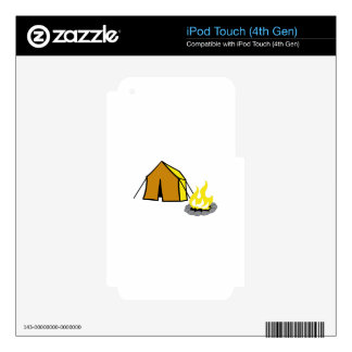 TENT AND CAMPFIRE DECALS FOR iPod TOUCH 4G