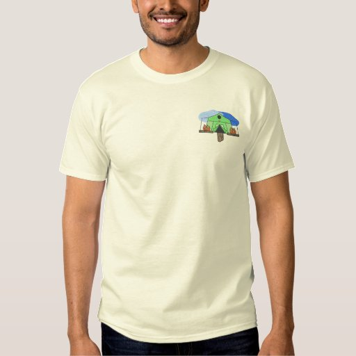 Tent Birdhouse Embroidered T-Shirt