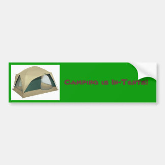 tent, Camping is In-Tents! Car Bumper Sticker
